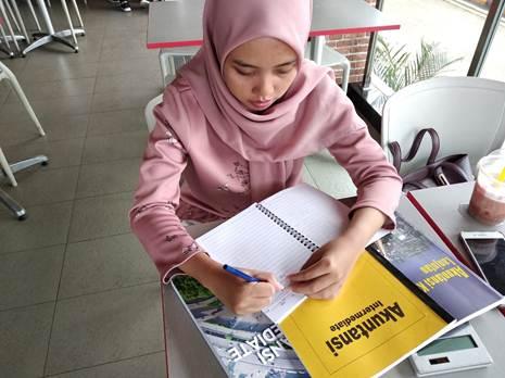 Accounting & Pajak Private untuk Pegawai, Sdri Novi, Peserta dari Pondok Cabe - Pamulang